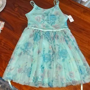 Nwr Girls mint floral Easter dress large and Xs